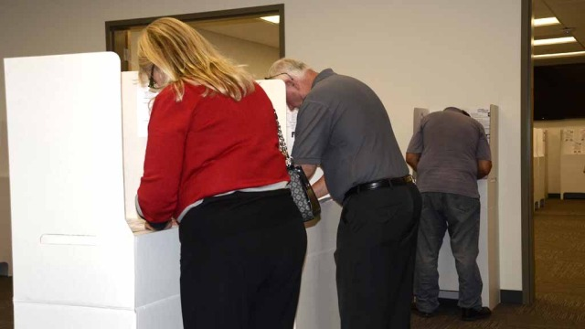 Voter turnout has been steady at the County Registrar of Voters office in San Diego Tuesday.