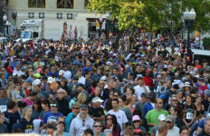 Crowds at the Run for the Hungry in downtown San Diego. Photo courtesy event organizers
