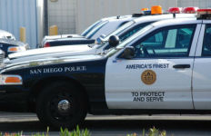 San Diego Police cruisers. Photo by Chris Stone