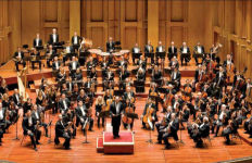 The full San Diego Symphony orchestra. Symphony photo