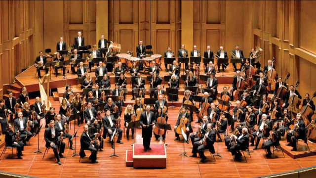 The full San Diego Symphony orchestra. Symphony photo