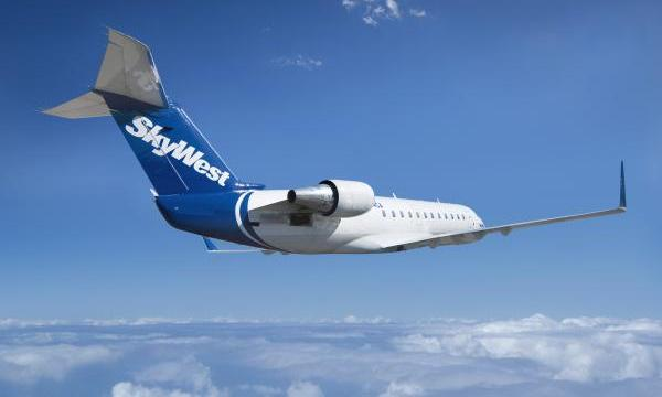 A SkyWest Airlines jet. Photo courtesy SkyWest