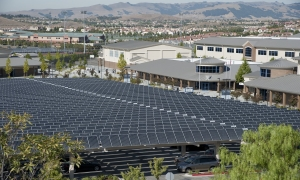 SunPower solar panels at a school in northern California. Courtesy SunPower