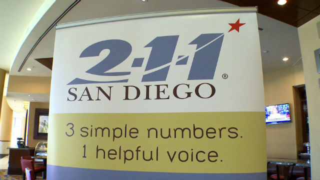 2-1-1 San Diego provides free, confidential help over the phone. Photo courtesy County News Center