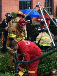 manhole rescue in UTC