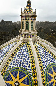 A view of the Museum of Man's dome from the California Tower. Photo by Joe Nalven