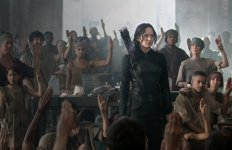 """Still of Jennifer Lawrence in """"The Hunger Games: Mockingjay – Part 1."""" Photo courtesy of Lionsgate"""