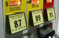 Gas pump with prices