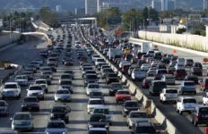 Los Angeles traffic. Image from UCLA Anderson Forecast video