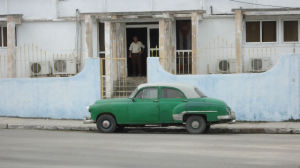 An aging American car in Havana. Photo by Chris Jennewein