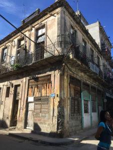 A rundown building in Old Havana. Photo by Emily Jennewein
