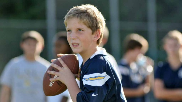 Young Chargers fan