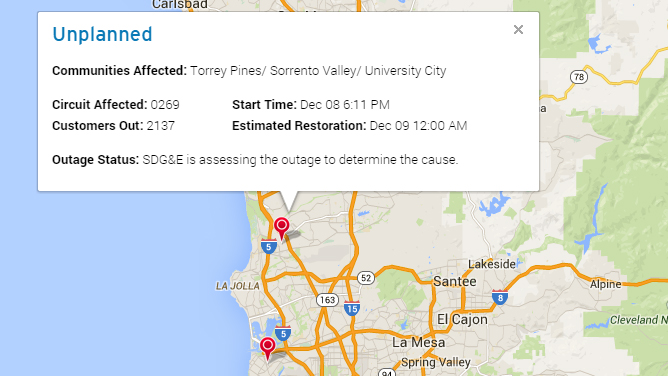 sdge power outage map with Sdge Outage Map on 6130341140 moreover 10000 Hit By Power Outage In City Heights Chollas View Oak Park additionally 12274 besides Hot Santa Ana Winds Buffet Region Cause Power Outage besides Sdge Outage Map.