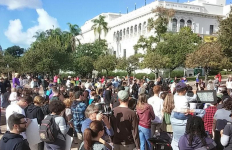 Protesters gather in Balboa Park. Image courtesy Twitter.