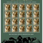 save vanishing species stamp sheet