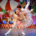 The Sugar Plum Fairy and Cavalier. Nutcracker ballet