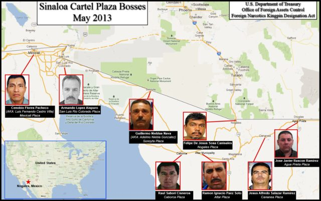 Sinaloa Cartel Plaza Bosses