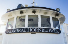 The bridge of the Admiral Hornblower, soon to be renamed Lord Hornblower. Courtesy Hornblower Cruises