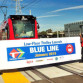 Ceremony in National City launching low-floor trolley service on the Blue Line. Courtesy SANDAG