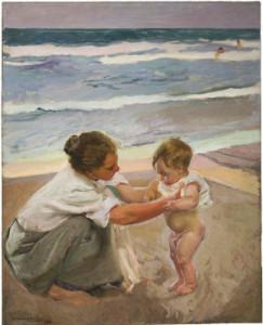 """Joaquín Sorolla y Bastida, """"By the Seashore, Valencia, """"1908."""