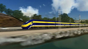 A rendering of the California bullet train. Courtesy California High-Speed Rail Authority