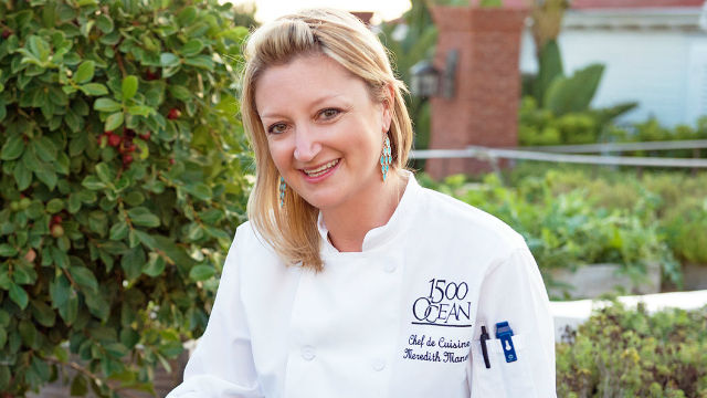Chef Meredith Manee of 1500 OCEAN at the Hotel del Coronado. Photo courtesy of the hotel