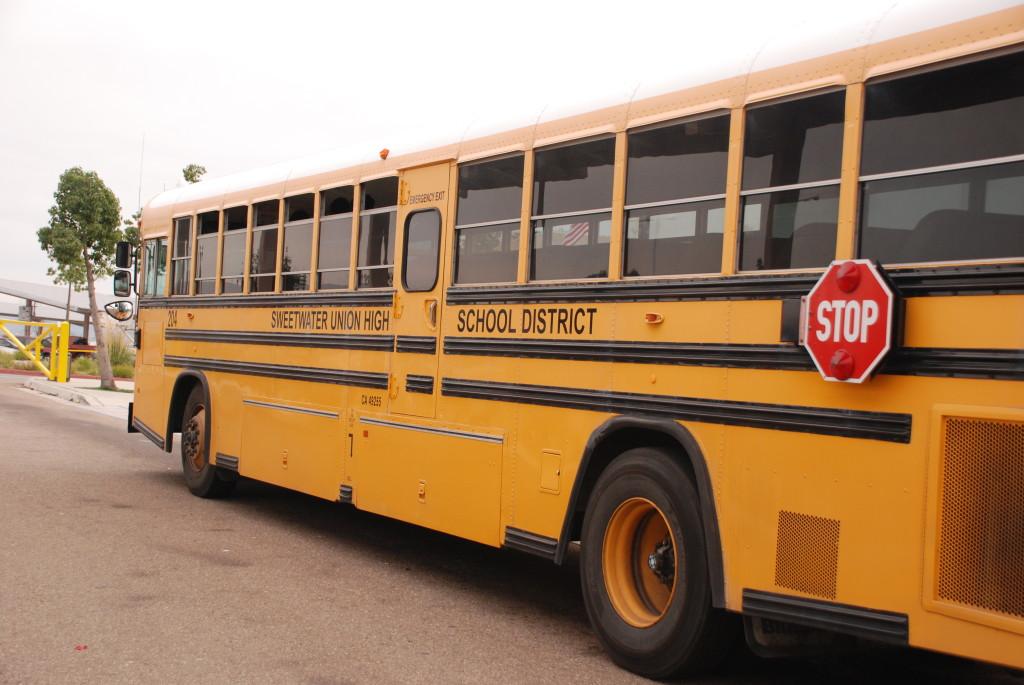 Sweetwater Union High School District school bus.