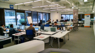 Startup teams in EvoNesus' incubator in downtown San Diego. Photo by Chris Jennewein