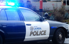 La Mesa Police car. Photo by Chris Stone