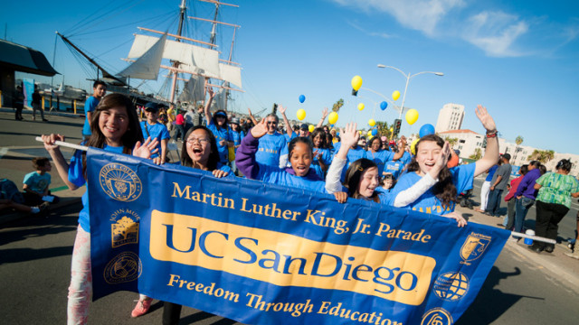 UC San Diego students in the 2013 parade. Photo by  Erik Jepsen / UC San Diego Publications