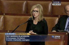 Rep. Marsha Blackburn of Tennessee. Photo from House video