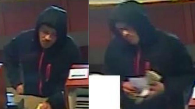 "Bank surveillance photographs of the ""Peach Fuzz Bandit."" Courtesy FBI"