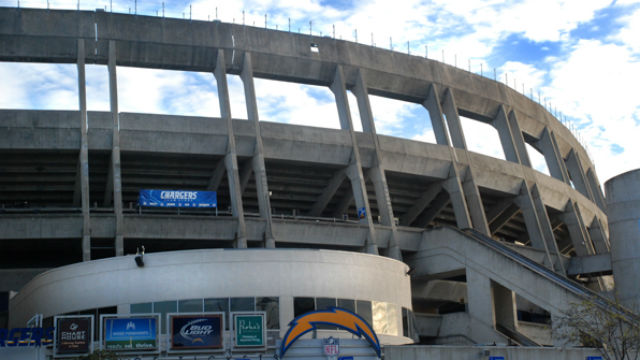 Qualcomm Stadium in Mission Valley, the current home of the Chargers. Photo by Chris Stone