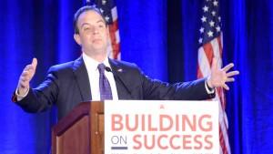 Republican National Committee Chairman Reince Priebus speaks at winter meeting at Hotel Del Coronado.