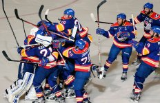 The Norfolk Admirals celebrate a win. Courtesy of imgarcade.com