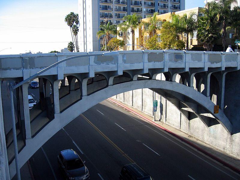 The historic century-old Georgia Street bridge. Photo credit: Eli Pousson/Wiki Commons
