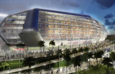 Artist's rendering of proposed football stadium. Image via Twitter