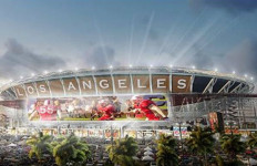 rendering of the proposed Los Angeles Stadium in Carson. Image from Carson2gether Facebook page