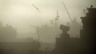 Fog at Naval Base San Diego