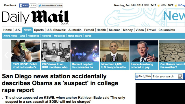 Daily Mail, a national newspaper in United Kingdom.