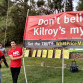 Opponents of Kilroy Realty's One Paseo Project in Carmel Valley rally on Saturday. Photo by Chris Jennewein