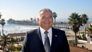Rocky Chavez near the Oceanside Pier. Campaign photo