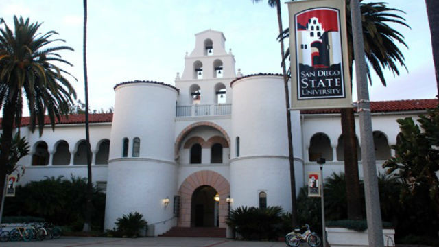 San Diego State University, Hepner Hall. Photo by Chris Stone