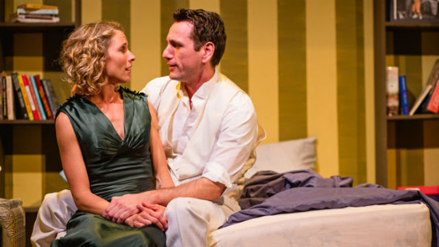 "A scene from ""Stage Kiss"" at New Village Arts Theatre in Carlsbad."