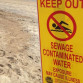 A San Diego County contamination warning sign. File photo