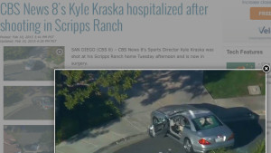 Aerial view of Kyle Kraska car posted on CBS8.com.