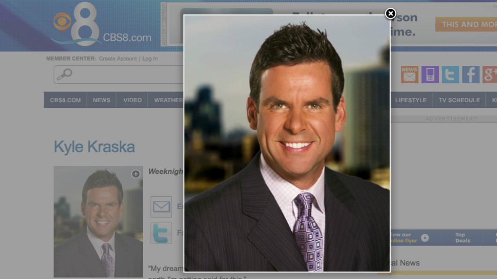 Kyle Kraska as depicted on his CBS8 profile page. Inage via CBS8.com