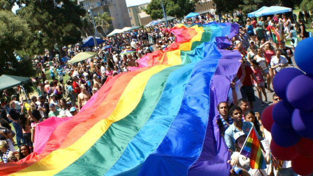 The rainbow flag at the San Diego Pride Festival. Photo courtesy of San Diego Pride Festival
