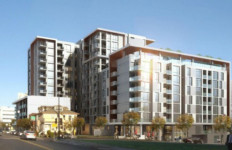 A rendering of Atmosphere affordable housing development in downtown San Diego Courtesy Wakeland Housing and Development Corporation