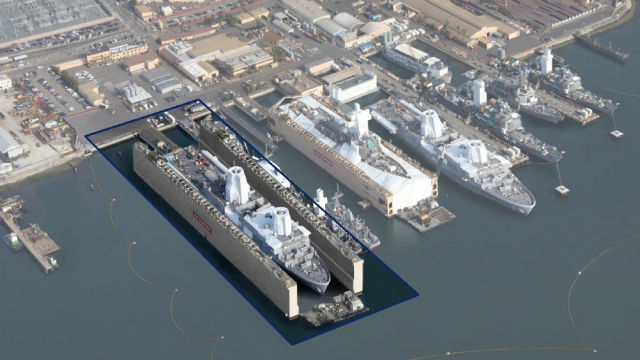BAE Systems rendering shows location of new dry dock.